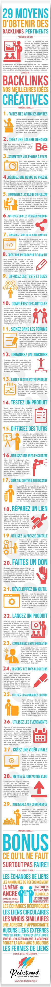 29 astuces SEO pour obtenir des liens externes [Infographie] #Webmarketing | Search engine optimization : SEO | Scoop.it