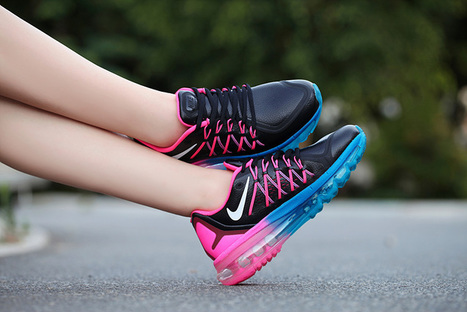 Women Air Max 2015 Black Peach Pink Leather Running Shoes,Discount women style nike air max 2015 black pink real leather running shoes online sale | nike sneaker store | Scoop.it