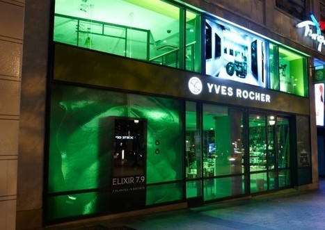 France : Yves Rocher numérise ses vitrines - Ooh-tv | magasin physique et connections numériques | Scoop.it