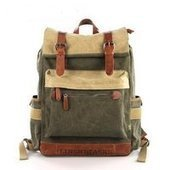 Best camping backpack in leahter and canvas | personalized canvas messenger bags and backpack | Scoop.it