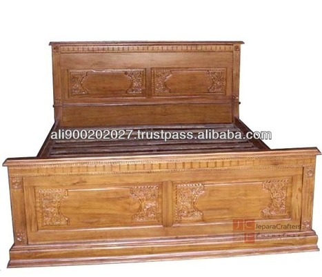 Hand Carved Tead Bedroom Furniture - Balinese Style - Indonesia Teak Furniture Exporter, View Teak Beds, Teak Bed Majapahit Carving Product Details from CV. JEPARA CRAFTER FURNITURE on Alibaba.com | Teak wood furniture | Scoop.it