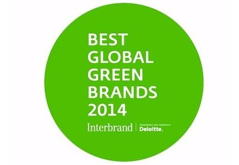 Best Global Green Brands 2014 : quelles entreprises se démarquent ? | Efficycle | Scoop.it