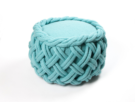 olann knitted wool furniture by claire-anne o'brien | weLOVEdesign | Scoop.it