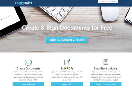 Formswift: creare, editare e firmare documenti Word e PDF online, creare firme digitali per email | desktop publishing | Scoop.it