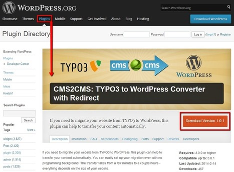 TYPO3 to WordPress Converter with Redirect Plugin: How It Works | Blogger to WordPress Migration in 15 min with CMS2CMS | Scoop.it
