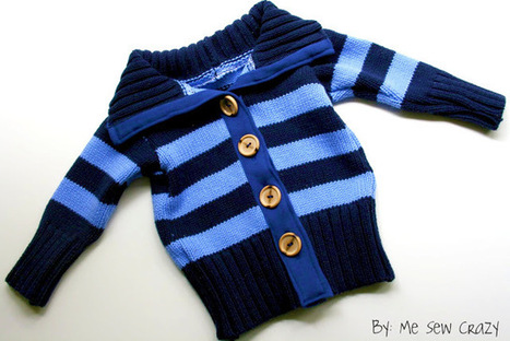 Upcycled Sweater - FOR THE BOY! - The Girl Creative | Nähanleitungen | Scoop.it