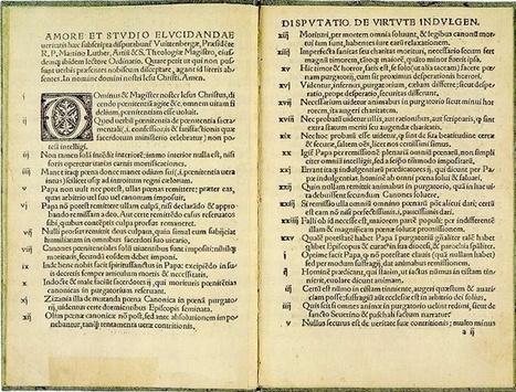 Les 95 thèses publiées le 31 Octobre 1517 par Martin Luther | Lab'Oratoire | REF-500: Le 500e anniversaire de la Réforme | Scoop.it