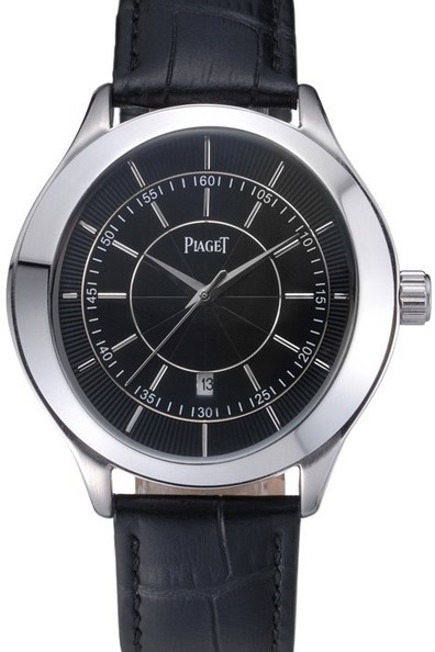 Cheap Replica Piaget Gouverneur Stainless Steel Black Dial Watch-$175.00 | Men's & Women's Replica Watches Collection Online | Scoop.it