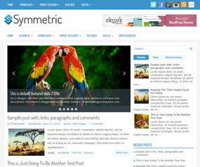 Symmetric Blogger Template | Blogger Templates | Scoop.it