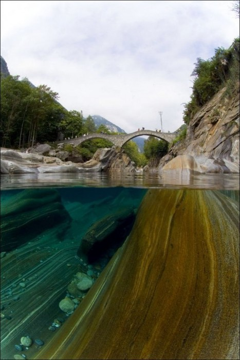 Photographer Captures Beauty of Crystal Clear Swiss River from 50 Feet Deep | Strange days indeed... | Scoop.it