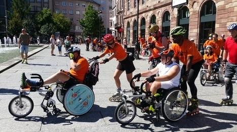 Strasbourg: Quand une randonnée en roller veut faire avancer l'accessibilité des personnes handicapés   Handicap, Mobilité et Vivre Ensemble   Scoop.it