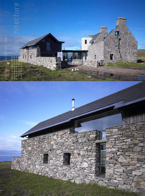Remote Retreat: New Island Home in an Historic Stone Ruin | Designs & Ideas on Dornob | Architecture and Photography | Scoop.it