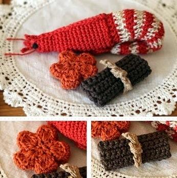 (Shrimp, carrots, kelp winding) New Year dishes | Wool Crochet Pattern | Scoop.it
