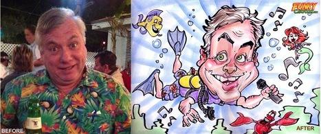 Our latest caricature Scuba Diving Color Caricature | Custom Caricatures | Scoop.it