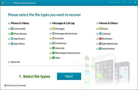 Gihosoft Free iPhone Recovery: recupera los datos perdidos en tu iPhone | Software y Apps | Scoop.it