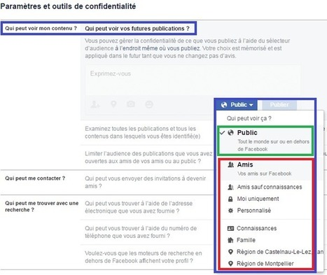 Facebook : bien régler les options de confidentialité. | Freewares | Scoop.it