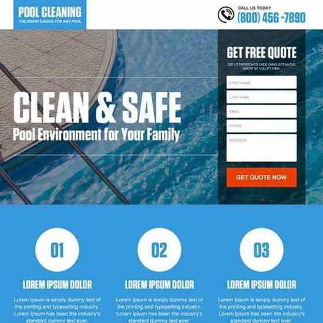 pool cleaning service responsive landing page design | converting and effective landing page designs | Scoop.it