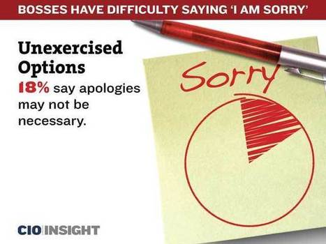 Bosses Have Difficulty Saying 'I Am Sorry' | MANAGEMENT & LEADERSHIP | Scoop.it