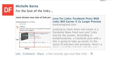 How To Maximize Facebook's Recent Link Upgrade | Lise's Webmarketing | Scoop.it