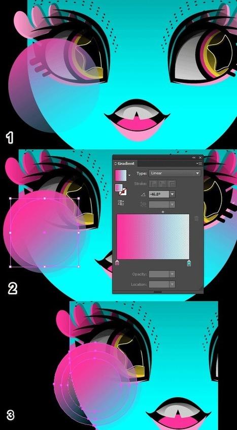 How to Create a Neon, Stylized, 60′s Inspired Portrait in Illustrator   Vectortuts+   arte y tecnología   Scoop.it