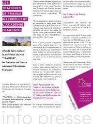 Les Traiteurs de France interpellent l'Académie Française | Traiteurs de France | Scoop.it