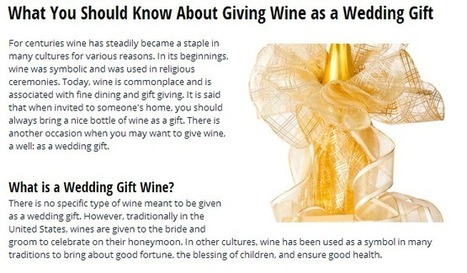Wine Gifts for Weddings: Sensible Etiquette Pointers to Keep in Mind | Tipsy Totes | Scoop.it