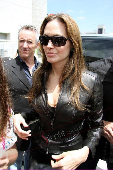 Angelina Jolie Motorcycle Leather Jacket | Designers Women Leather Jackets & Pants | Scoop.it