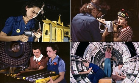 The women of WWII: Rare color photographs of the female workforce who toiled in factories to keep their country going while their men were off fighting the Nazis | The Second World War: Social History | Scoop.it