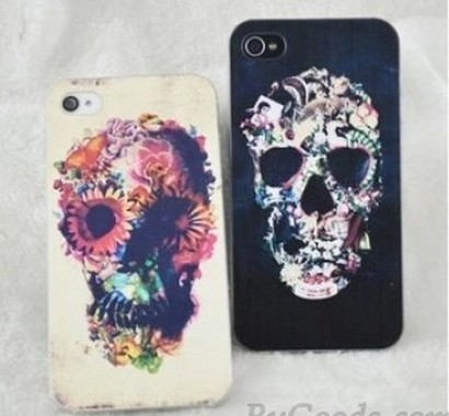 Punk Flower Skull Painted Iphone Cases For iphone 4/4s/5 | bebpiloo | Scoop.it