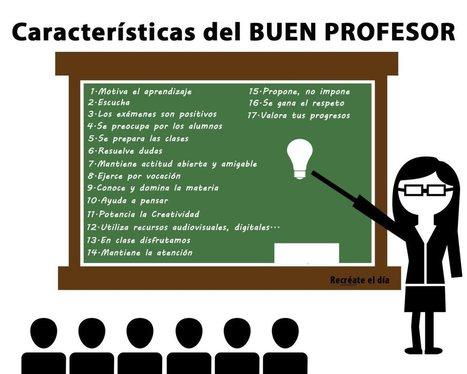 17 CARACTERÍSTICAS DEL BUEN PROFESOR | Aprendiendoaenseñar | Scoop.it