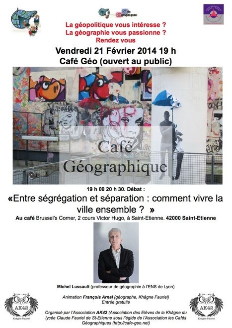 Café géo Saint-Étienne 21 février : l'affiche est sortie.   Géographie : les dernières nouvelles de la toile.   Scoop.it