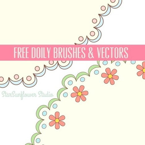 Free Doily Clipart & Designer Resources - Adapted from Vintage French Embroidery Pattern Books - StarSunflower Studio | Etymology Of Clipart | Scoop.it