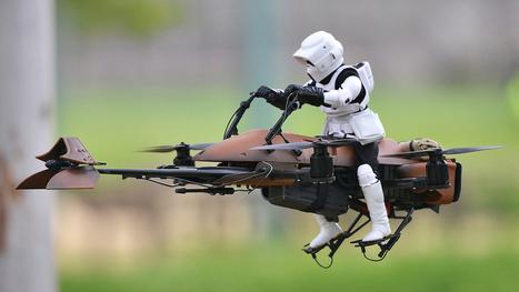 Un Speeder du prochain Star Wars ? Non, un « simple » drone ! - Gizmodo | Drôles de drones | Scoop.it