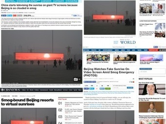 No, Beijing residents are NOT watching fake sunrises on giant TVs... | Online reporting tools and digital communication | Scoop.it