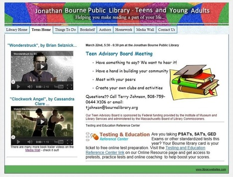 Teen Library Website Models: Identifying Design Models of Public Library Websites for Teens | innovative libraries | Scoop.it