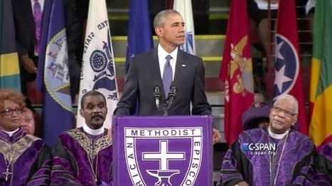 "President Barack Obama Delivers Moving Eulogy for Rev. Clementa Pinckney, Brings Church to Its Feet By Singing ""Amazing Grace"" (FULL VIDEO) 