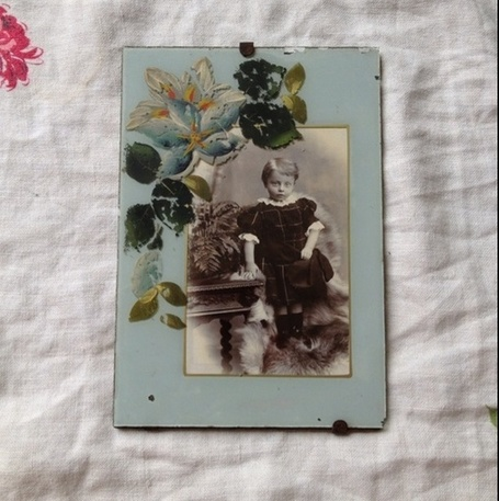 Antique 1900's Stunning Glass Frame with Photo, Late Victorian | Antiques & Vintage Collectibles | Scoop.it