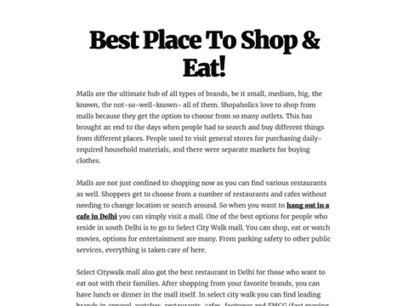 Best Place To Shop & Eat! | Select Citywalk | Scoop.it