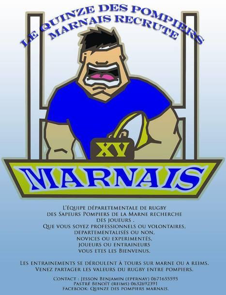 Notre équipe de rugby recrute !!! | SAPEURS-POMPIERS DE LA MARNE | Scoop.it