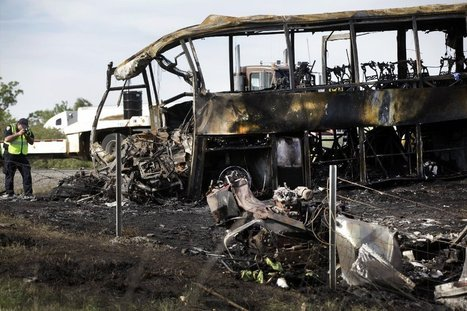 Bus crash: No evidence FedEx truck was on fire before collision - Los Angeles Times   Houston Texas Personal Injury Law   Scoop.it