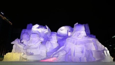"""Japanese army troops have built a giant """"Star Wars"""" snow sculpture   Pahndeepah Perceptions   Scoop.it"""