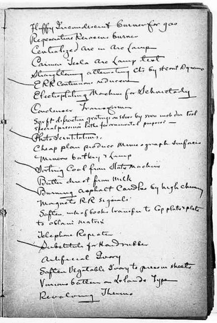 Thomas Edison's To-Do List, 1888 | Kreativitätsdenken | Scoop.it
