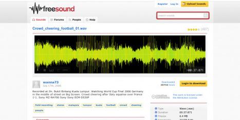 Obtén miles de efectos de sonido gratuitos desde Freesound.org | Utilidades TIC para el aula | Scoop.it