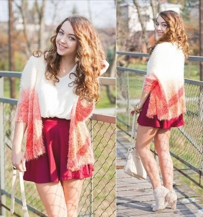 Ombre Open Front Mohair Cardigan from yourfashionsandcute   top   Scoop.it