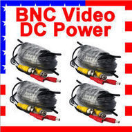 4 X 60ft feet CCTV BNC Video 12v Power cable siamese for Security camera | CCTV DVR Security Cameras | Scoop.it