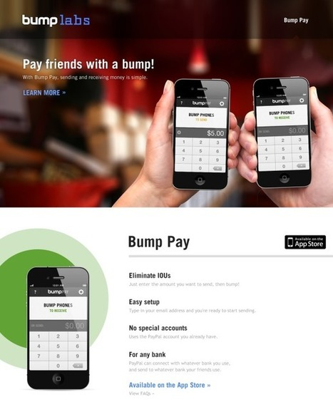 With Bump Pay, sending money is easier than ever | Social and digital network | Scoop.it