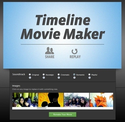 TimeLine Movie Maker: Bring Your Facebook Profile To Life
