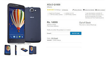 Xolo Q1000 Official Available in India for Rs.14,999 | TechKev.com | TechKev | Scoop.it