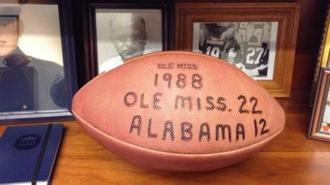 Ole Miss win at Bama in 1988 led to throwing bricks, scaling walls | NCAA Football | Sporting News | The Inner Voice; Ethics and Morals in Sports | Scoop.it