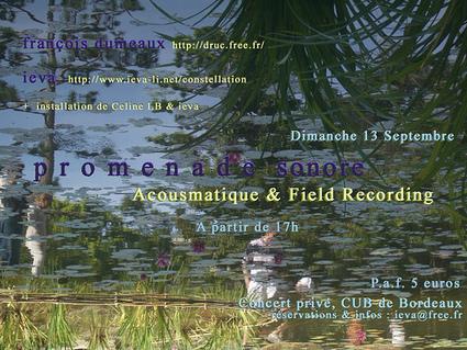 Promenade Sonore #1 | DESARTSONNANTS - CRÉATION SONORE ET ENVIRONNEMENT - ENVIRONMENTAL SOUND ART - PAYSAGES ET ECOLOGIE SONORE | Scoop.it